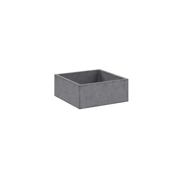 Concrete Basin_Square_Left(White)